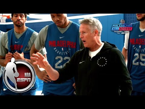 76ers' Brett Brown gets mic'd up for practice | Philadelphia All Access | ESPN