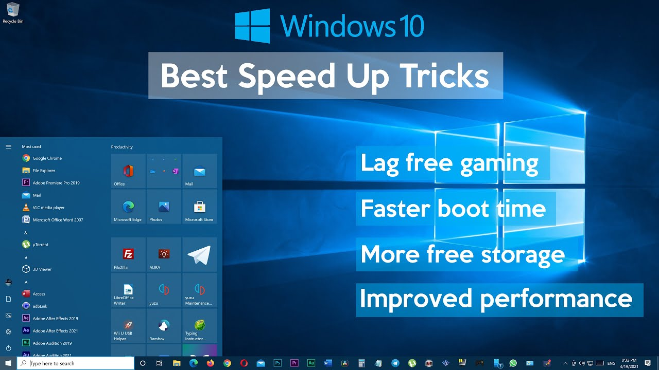 How to Speed Up Your Windows 10 Performance (Best Settings Ever)