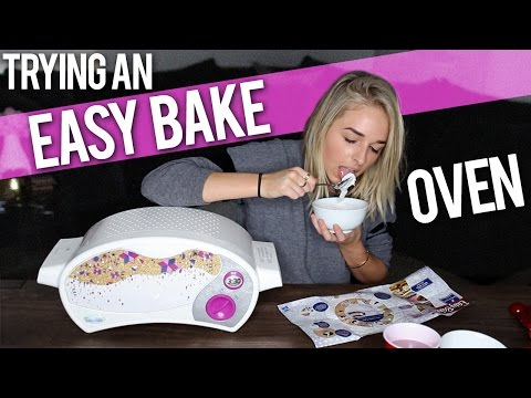 TRYING AN EASY BAKE OVEN