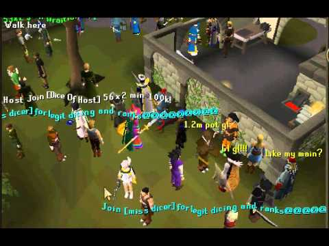RuneScape - Getting scammed by miss dicers clan twlg