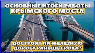 ОСНОВНЫЕ ИТОГИ РАБОТЫ КРЫМСКОГО МОСТА. Достроят ли железную дорогу раньше срока? Керченский мост.