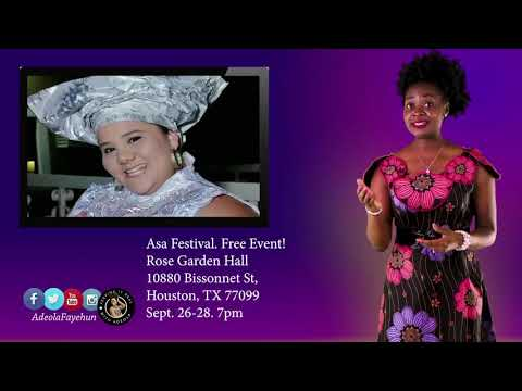 Attend a Free Nigerian Event in Texas: Asa Festival 2019!  Featuring Actors, Comedians