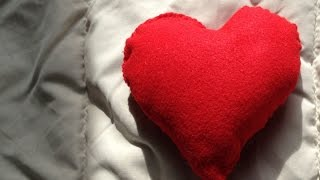 How To Make A Cute Felt Fabric Heart Plush - DIY Home Tutorial - Guidecentral