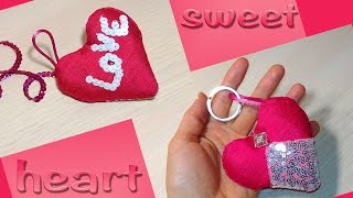 DIY Heart Keychain - DIY Friendship Keychain  - Easy Handmade Gift.