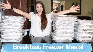 Breakfast Freezer Meal Prep With Me! Fill Your Freezer!