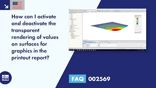 FAQ 002569 | How can I activate and deactivate the transparent rendering of values on surfaces for graphics in the printout report?