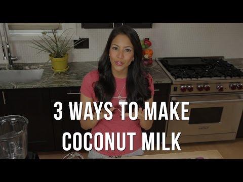 3 τρόποι για να φτιάξετε γάλα καρύδας χωρίς να χρειαστεί να ανοίξετε την καρύδα