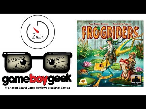 The Game Boy Geek's Allegro (2-min) Review of 13 Frogriders