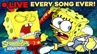🔴 LIVE: Music from SpongeBob SquarePants 🎵 | Every Song Ever! | Non-Stop 24/7 Radio