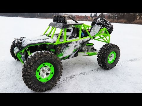 RC Toys ADVENTURE - Ride On Across 1/12 WLtoys Off Road Vehicle - Drifting On ICE And SNOW