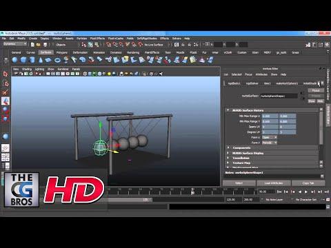 "CGI 3D Tutorial : ""Creating Newton's Cradle Using Physics in Maya"" –  by Studio Four Media"