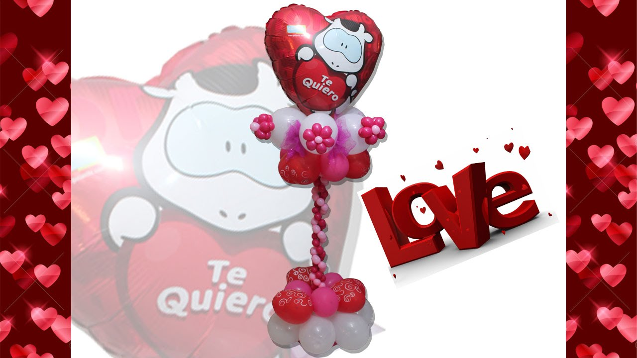 Centro de Mesa Dulce Amor con Globos. Center Piece Honey Love with Balloons