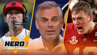 Mac Jones in San Francisco is too convenient, talks Trevor Lawrence — Colin | NFL | THE HERD