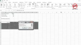 Excel: Two Input Data Table
