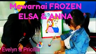 Mewarnai Frozen Elsa Dan Anna मफत ऑनलइन वडय
