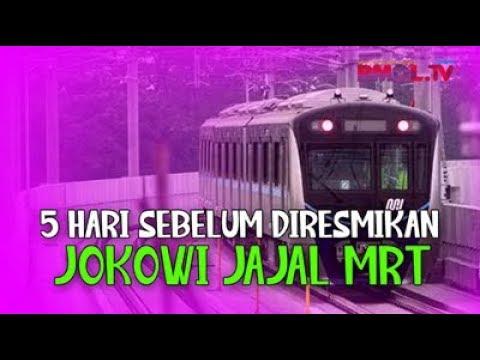 5 Hari Sebelum Diresmikan, Jokowi Jajal MRT