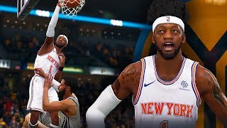NBA Live 19 The One Career | DUNK GAWD FIRST POSTER DUNK! WING DEFENDER BUILD IS OP!