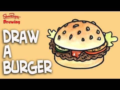 How to draw a Burger nice and