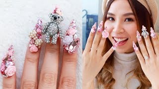 Japanese Celebrity Nail Artist Gave Me Extreme 3D Nail Art 💅🏻 | Best In Beauty
