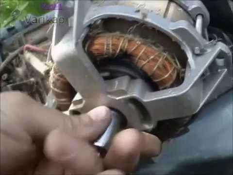 Электрическая газонокосилка плохо запускается, клинит мотор, ремонт тормозной муфты