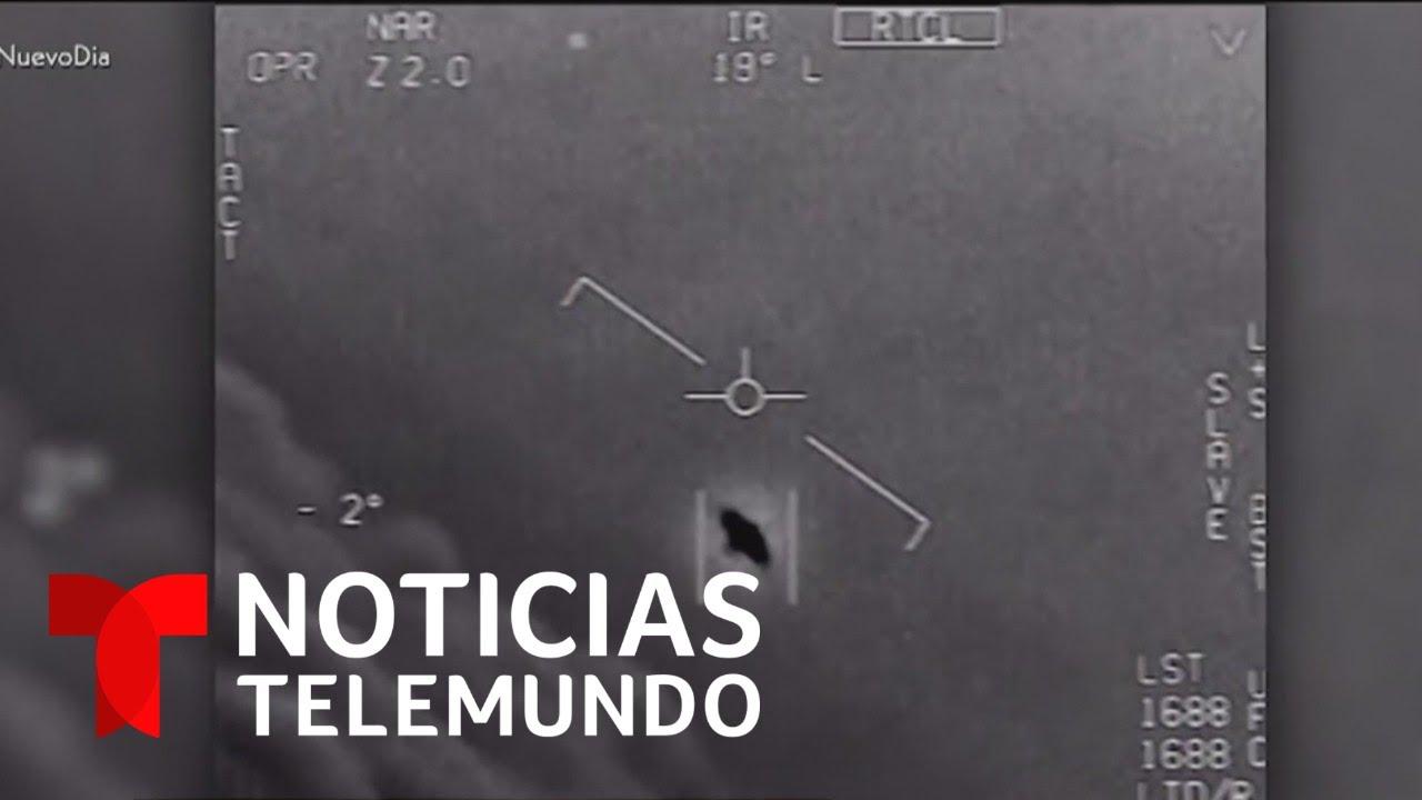 El Pentágono desclasifica videos secretos de OVNI   Noticias Telemundo
