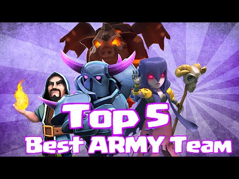 "Clash Of Clans | ""TOP 5 BEST ARMY COMPOSITIONS"" 
