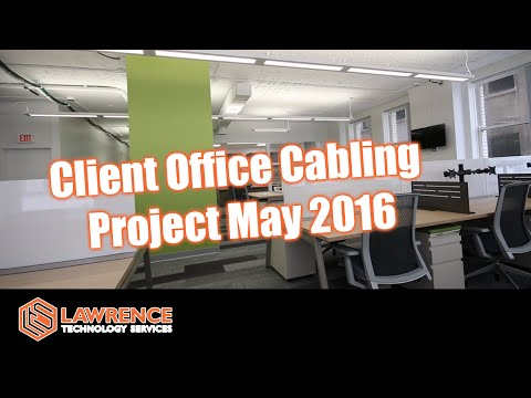 Client office cabling project May 2016