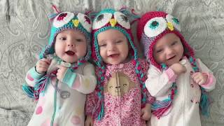 A day in the life with 6 month old TRIPLETS!