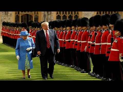 العرب اليوم - شاهد: الملكة إليزابيث تستقبل ترامب في قلعة