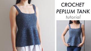Crochet Peplum Tank Top DIY Tutorial