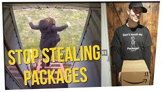 Man Creates Trap for Package Thieves ft. Steve Greene & Gina Darling
