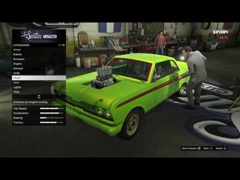 GTA 5 Michael Attempts To Steal A Car Inside LS Customs