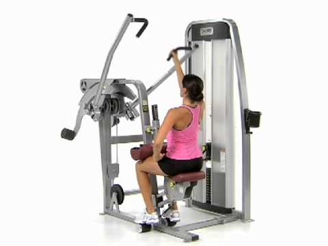 Unilateral, Close Grip Lat Pull  - Cybex Eagle Lat Pull
