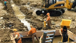 BRUDER TOYS Tractors Adn Trucks Construction - WATER PIPE! | Construction Toys | Kids Video