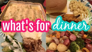 WHAT'S FOR DINNER & DESSERT || REAL LIFE LARGE MEAL IDEAS || BUDGET MEAL IDEAS