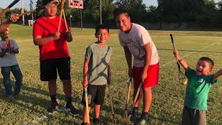 Learning Stickball at Native American Family Night
