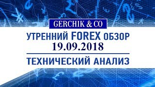 ❇ Технический анализ основных валют 19.09.2018 | Обзор Форекс с Gerchik & Co.