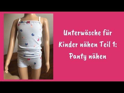 Unterwäsche für Kinder nähen Teil 1: Panty nähen