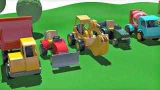 Развивающие мультики конструктор про машинки: На детской площадке! Сборник!