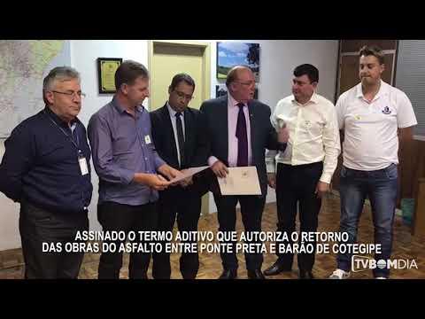 Assinato termo para o asfaltamento entre Ponte Preta e Barão de Cotegipe
