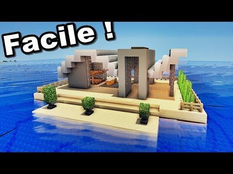 Minecraft Tuto Maison Moderne Sur L Eau Tutotube Fr Le Savoir