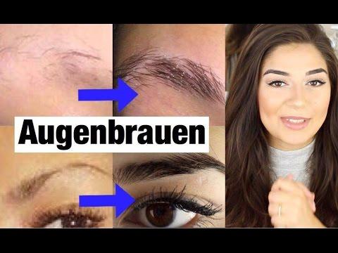 Augenbrauen schneller, voller wachsen  Anwendung + Tipp | Gana Khalana
