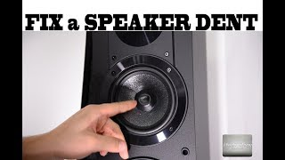 Fixing a speaker DENT bent by your kids or accident; 3 methods,  one 100% fix proof, Sony, JBL, Bose