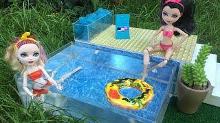 Как сделать бассейн для кукол барби своими руками