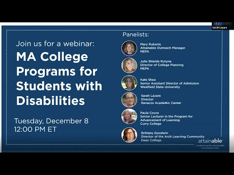 MA College Programs for Students with Disabilities