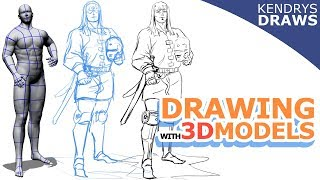 DRAWING WITH 3D MODELS (Quick demo)