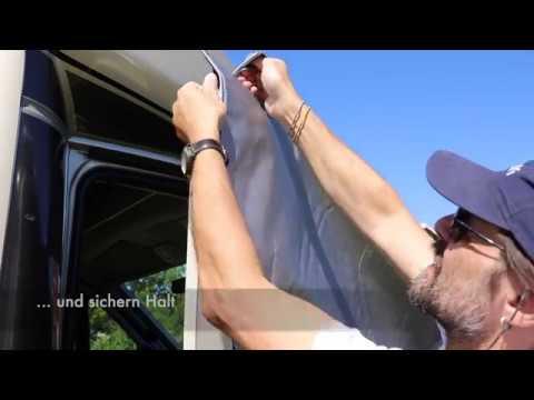 Hindermann Thermomatte für Wohnmobil Front- und Seitenscheiben