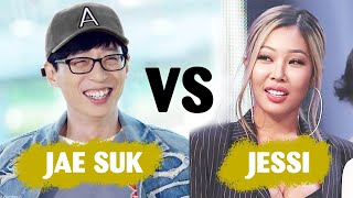 When queen Jessi and nation MC Yoo Jae Suk be in one room 😂😂