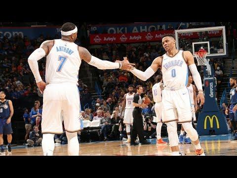 Russell Westbrook & Carmelo Anthony Tip-Off Ritual