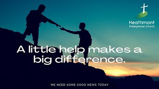 A little help makes a big difference. Mark 15:21